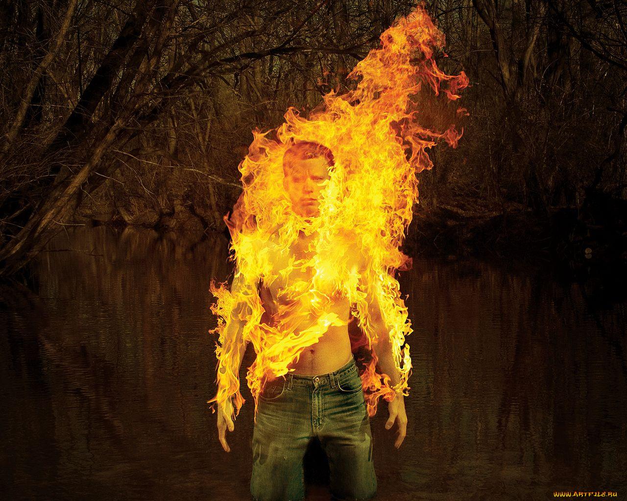 Огненный парень картинки